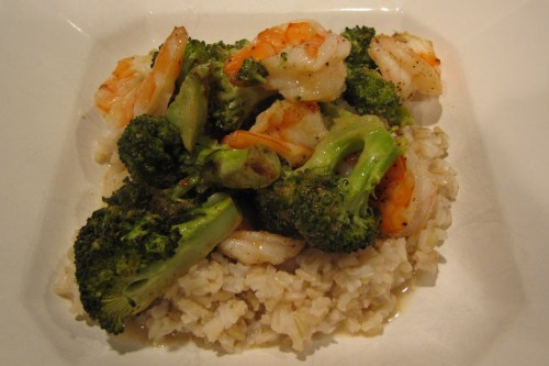 Roast Shrimp and Broccoli